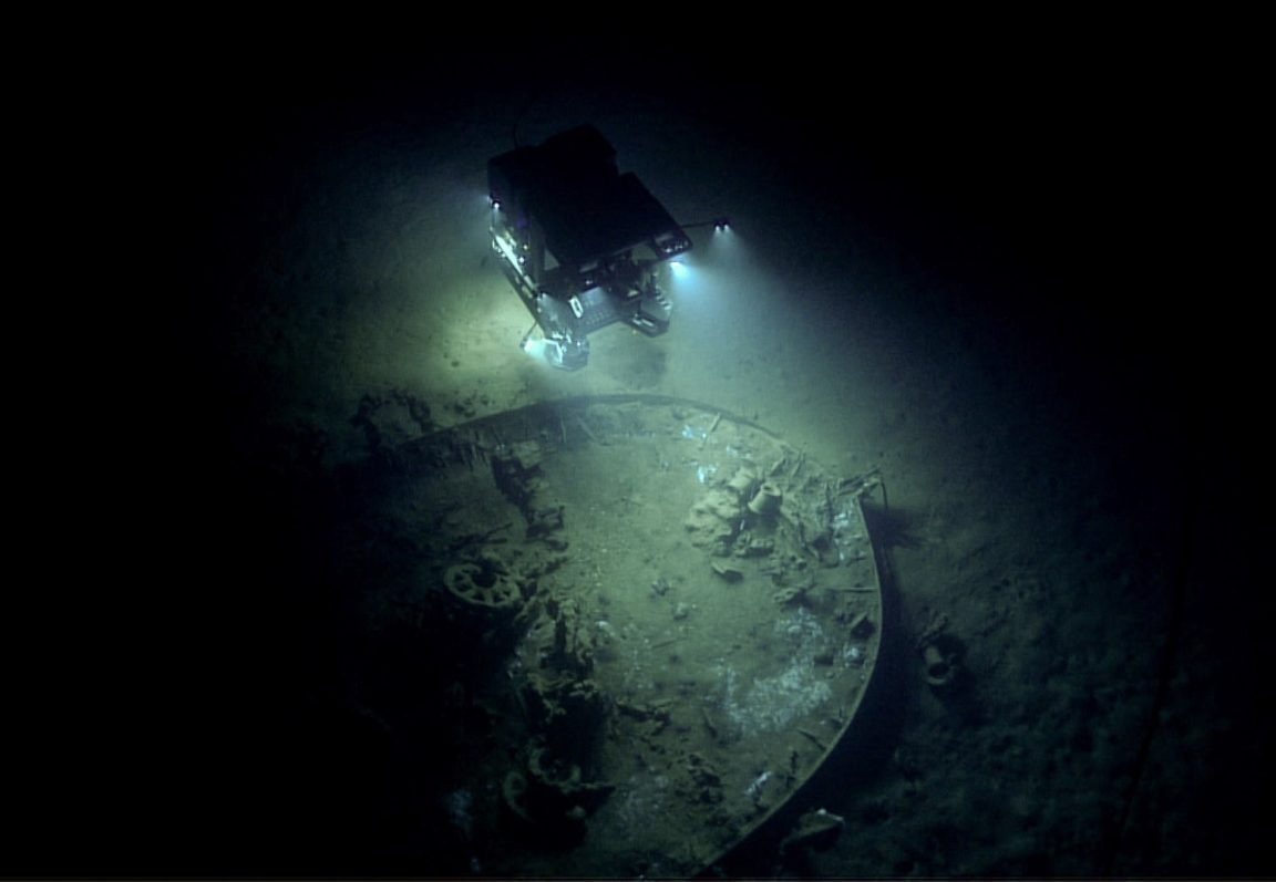 """Remotely operated vehicle Deep Discoverer images """"Wreck 15377."""""""